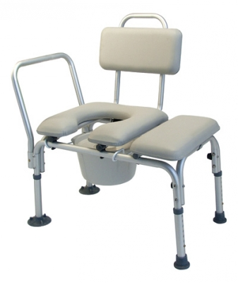 Transfer Benches : Padded Transfer Bench with pail and cover